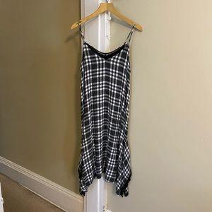 Zara Basic Black & White Plaid Dress